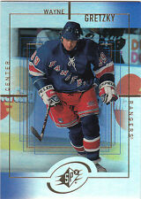 1999/00 SPx Sample card Wayne Gretzky New York Rangers