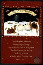 Sheep Rabbits Camels Joy to The World Religious - Christmas Greeting Card