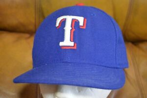 NICE New Era 59Fifty On-Field Texas Rangers Blue Hat Size 7 Made in USA
