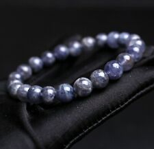cat's eye Beads Bracelet 8mm Natural Lolite Cordierite Gemstone
