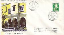 ALGÉRIE ENVELOPPE FDC 1er JOUR 1957 - YT341 - Cour Mauresque du Bardo