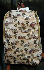 Disney Parks Pixar CARS Backpack Bag Route 66 Mater Lightning McQueen NEW