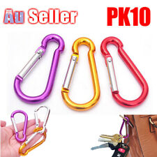 10 X Cable Carabiner Camping Hiking Hook Chain Ring Key Lock Clip Holder