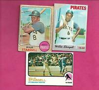 1968 AND 1970 AND 1973  TOPPS PIRATES WILLIE STARGELL  CARD (INV# C6065)