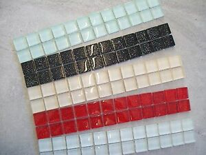 Glass Mosaic Border Tiles 'Infinity Glitter' - 5 Colours, Various Pack Sizes
