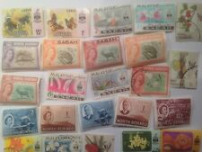 25 Different Malay States Stamp Collection - North Borneo & Sabah