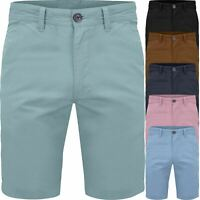 New Mens Slim Fit Chino Shorts Stretch Cotton Elastane Casual Summer Size 30-42