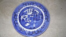 """VINTAGE BLUE """"WILLOW"""" MADE IN ENGLAND DINNER PLATE"""