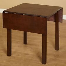 Kitchen Dining Table Drop Leaf Wooden Rustic Bistro Room Dinette Furniture Brown