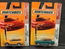 Aqua & Orange Variations of Matchbox 2007 Ford Shelby GT500, MOC!  F12