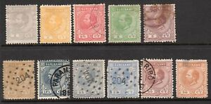 1873-1879 Surinam SC 1-7, 10-12 & 14 Used Set (1//15) - King William III