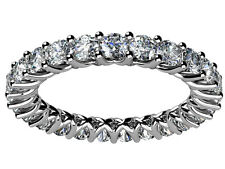 2.50 ct Ladies Round Cut Diamond Eternity Wedding Band Ring New Design Platinum