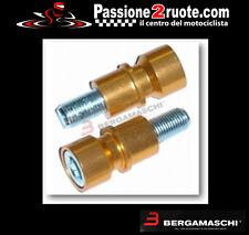 coppia Nottolini perni cavalletto per forchette moto oro rear stand mm 12