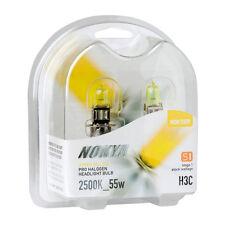 Nokya Hyper Yellow Pro Halogen Headlight Bulbs H3C 55w 2500K Stage 1 NOK7659 NEW
