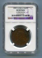 South Africa Zar NGC Certified 1898 Kruger Penny Au Details Version c