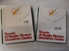 SCUOLA DI MAGLIA RICAMO UNCINETTO CUCITO 1-72 ED.LONGANESI