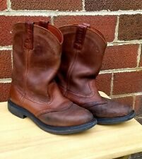 """Red Wing Pecos 1137 11"""" Pull-On saddle Leather Boot Sz 10.5 Made in USA."""