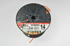 300' 14 awg thhn or thwn-2 or mtw 600v  stranded copper wire. Orange.
