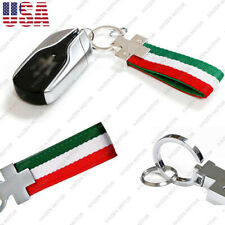 Multi-Color Italian Flag Style Stripe Key Fob Chain Keychain Ring Universal Fit