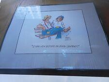 NEW BILL MONROE Cartoon LOW BIDDER Print 20x16 FRAME Sale SHIPPING INCLUDED