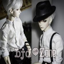 New BOY White Gentleman Collar Shirt /Tops For 1/4 1/3 Bjd MSD Doll Clothes