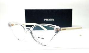 PRADA VPR 06X 2AZ-1O1 Crystal Demo Lens Women's Eyeglasses 54mm