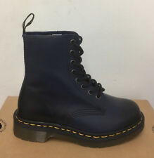 DR. MARTENS PASCAL NAVY ANTIQUE TEMPERLEY  LEATHER  BOOTS SIZE UK 3