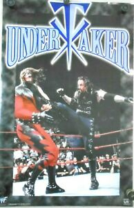 """UNDERTAKER / Orig. WWF Vintage poster #3443 - """"1998"""" / Exc. New cond.-22 x 34.5"""""""