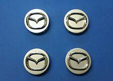 4 pc Mazda 3 5 6 CX-7 CX-9 Miata 626 MPV Millenia wheel center hub cap silver