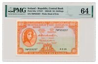 IRELAND banknote 10 Shillings 1968 PMG MS 64 Choice Uncirculated