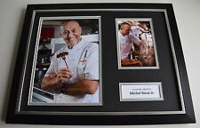 Michel Roux Jr SIGNED FRAMED Photo Autograph 16x12 display Food TV Chef & COA