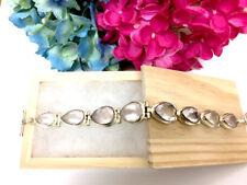 New Old Stock- Tear Drop Rose Quartz Bracelet