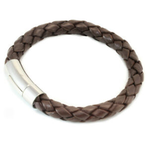 Mens Chucky Leather Bracelet With Stainless Steel Trigger Clasp-Colour Choice