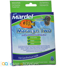 Mardel Maracyn Two 8 Ct Antibacterial Tropical Aquarium Fish Medication Powder
