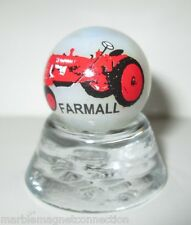FARMALL TRACTORS LOGO ON COLLECTOR MARBLE