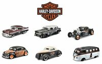 MAISTO HARLEY DAVIDSON 1:64 CUSTOMS DIE-CAST CARS - CHOICE OF 6 VEHICLES - NEW