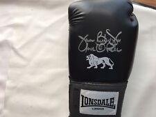 James Buster Douglas main signé Noir Lonsdale Boxing Glove Proof COA