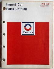 1973 Delco Import Car Parts Catalog Original O.E.M. Covers Datsun-Daimler-Jaguar