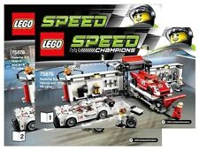 LEGO INSTRUCTIONS for Speed Champions PIT STOP # 75876 * MANUAL ONLY  * NEW