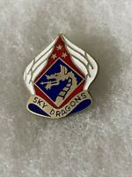 Authentic US Army 18th Airborne Corps Unit DI DUI Crest Insignia E25