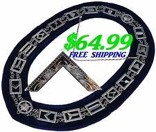 Masonic Collar Blue Lodge House FREEMASON Worshipful Jewel PACKAGE DMR400SBMJ