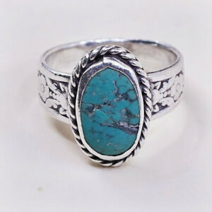 925 sterling silver handmade fabulous ring with gorgeous turquoise stone and pearl awesome adjustable customized ring unisex jewelry sr261
