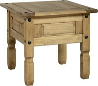 Corona Lamp Table in Distressed Waxed Pine Side Table Coffee Table Wooden