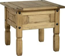 Small Coffee Table, Side Table, Lamp Table Rustic Corona Solid Pine