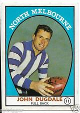 1968 A Scanlens (11) John DUGDALE North Melbourne # Very Good #