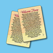 """Welcome Home"" Poem  - 2 Verse Cards - sku# 809"