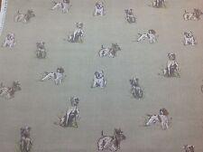 NUOVO!! fryett'S Cotone POOCH DOG PRINT Tessuto per tenda / Tappezzeria / Craft