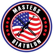 Biathlon Decal - United States MASTERS BIATHLON - 1.5 Inches