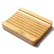 Natural Wood Wooden Soap Dish Storage Tray Holder Bath Shower Plate Bathroo F7A5