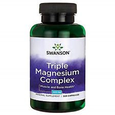 Swanson SW1079 Triple Magnesium Complex Absorption 400 mg 300 Capsules